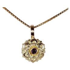 9ct Victorian Gold and Garnet Pendant/Charm Conversion