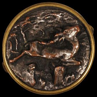 Victorian Leaping Gazelle Bachelor's Button; Lapel Pin