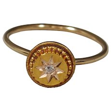 15ct Victorian Diamond Starburst Ring; Pin Conversion