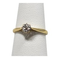 Vintage 9ct Solitaire Diamond Ring