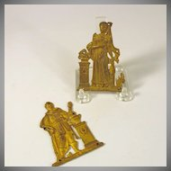 Original P.E Guerin NY gilt bronze furniture hardware Man & Woman