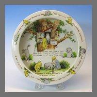 Early Winnie the Pooh porcelain Baby bowl Richard Krueger NY