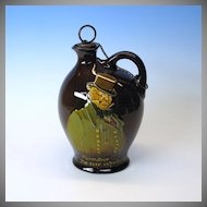 Royal Doulton Kingsware Dickens flask Mr. Micawber