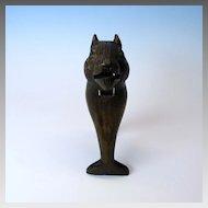 Carved Black forest Squirrel or Chipmunk nutcracker