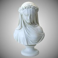 Iconic R Monti 1861 Copeland Parian bust The Bride