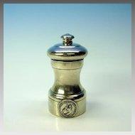 Vintage sterling silver Great Dane Club pepper mill grinder