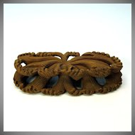 Finely carved vintage Chinese wooden wave form stand