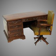 Vintage Salesman's sample miniature desk & swivel chair