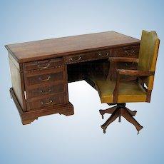 Vintage Salesman's sample miniature desk & swivel chair