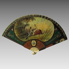 Store display Vernis Martin decorated Ladies fan