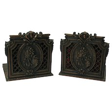 Great pair of copper clad bronze French bookends