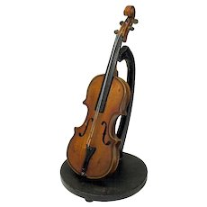 19th Century model Violin on stand