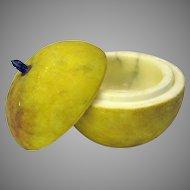 Vintage Italian painted stone fruit marble apple box