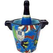 LONGWY pottery novelty champagne bucket & bottle