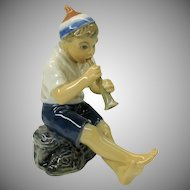 Dahl Jensen porcelain figure of pipe playing Boy
