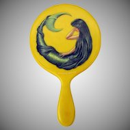 Original painting of a Mermaid on celluloid hand mirror by Richard Sparre
