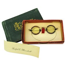 Victorian Doll or Teddy miniature spectacles original box