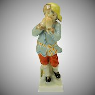 Small cabinet sized vintage KPM porcelain figure of a Winter boy 4 1/2""