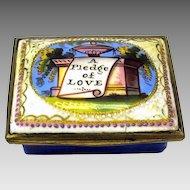 "18th Century enamel patch box ""A pledge of Love"""