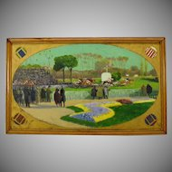Louis Malespina 1921 oil painting of a Horse race -French