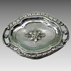 Early 800 silver miniature serving tray dish