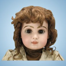"""24"""" Closed mouth Tete Jumeau Bebe doll with original dress size 11"""
