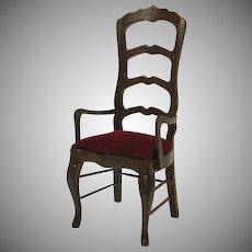 Vintage High back dollhouse miniature wood chair in original box