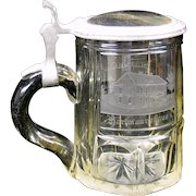 1860's clear engraved glass Spa Stein
