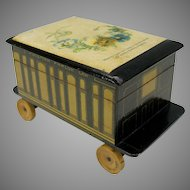 Novelty Clark Anchor Cotton figural box Pullman Parlor car