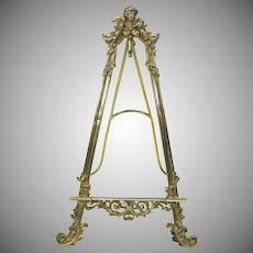 800 Silver gilt miniature painting easel for portrait miniature or watch