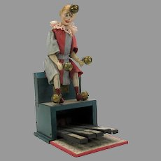 Antique French tin toy Le Clown Orchestre by Victor Bonnet