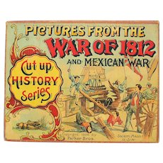 1896 Parker Bros game puzzle Slices of History War of 1812 & Mexican War