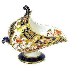 Antique Royal Crown Derby porcelain miniature coal scuttle