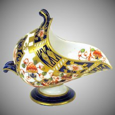 Antique Royal Crown Derby porcelain miniature coal scuttle