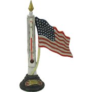 48 Star American flag cold painted thermometer