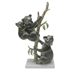 Large Rosenthal porcelain Australian Koala Bears figure