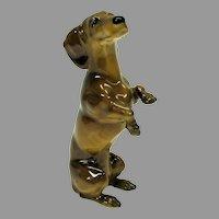 Fine quality JHR Hutschenreuther porcelain Dachshund begging dog figure