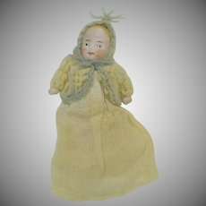 """All original all bisque baby doll for a carriage 2 1/4"""""""
