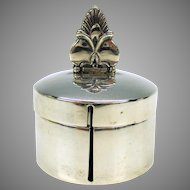 Heavy vintage sterling silver stamp roll holder Herbst & Wassall