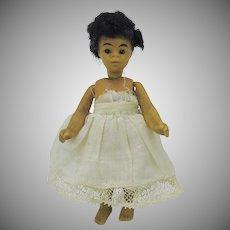 "4"" all bisque black barefoot Mignonette doll"