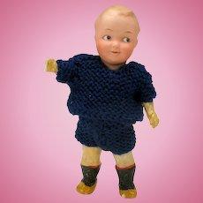 "7 1/2"" Heubach german bisque head googly boy doll"