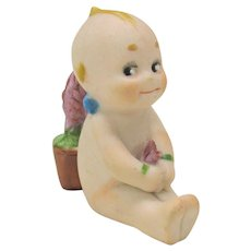 Rose O'Neill German bisque Kewpie Menu card holder