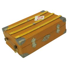 Antique German candy container-Steamer trunk luggage with Dresden trim #52