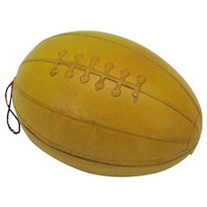 Large antique American football or Rugby ball candy container