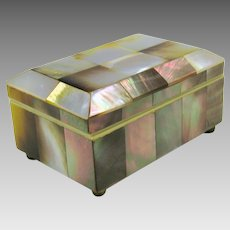 Victorian Mother of Pearl small dresser box