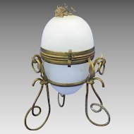 Grand Tour French opaline glass Egg casket box