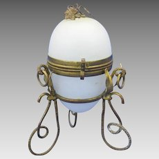 Grand Tour French opaline glass Egg casket box