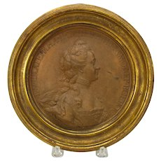 Jean-Baptiste Nini terracotta medallion Catherine the Great Russia (Italian 1717-1786)