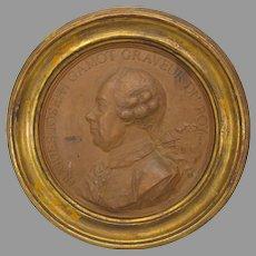 Jean-Baptiste Nini terracotta medallion Hugues Joseph Gamot (Italian 1717-1786)