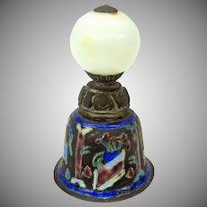 Vintage Chinese enameled table bell